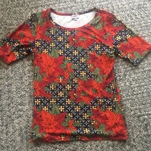 Lularoe Poinsetta shirt XL